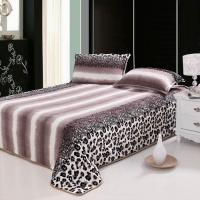 leopard printed flannel fleece bedding set