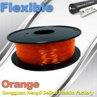 Orange Flexible 3D Printer Filament Consumables With Great Adhesion Manufactures
