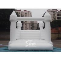 Outdoor 5x4m adults wedding white bouncy castle for wedding parties or events for sale