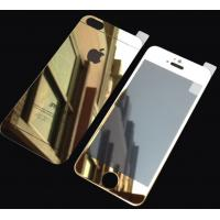 Gold Tempered Glass Screen Protector Mirror Film For Iphone 5s Front Back Manufactures