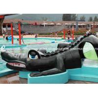 China Small Fiberglass Water Pool Slides For Kids , Water Park Equipment Crocodile Slide on sale