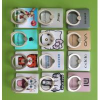 China Customized Print Cute Animals Plastic Finger Ring Mobile Holder With Sticky Adhesive For Best Gift Sale on sale