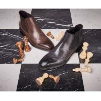 Handmade Genuine Mens Casual Leather Boots / High Ankle Boots Environmental Friendly Manufactures