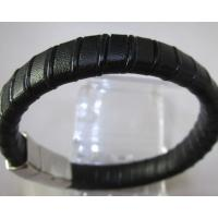 Cheap Jewelry Genuine Leather Cufff Bracelet with Magnetic Buckle Manufactures