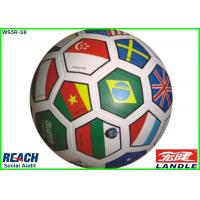 China Official Size Colored Flag Soccer Ball Customized , Smooth Golf Pebble Printing on sale