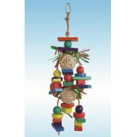 Buy cheap natural wood bird toys 13 inches vine ball robot with raffia grass for parrots from wholesalers