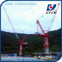 10 ton 50m Boom Luffing Jib Tower Crane QTD125 for high rise building Manufactures