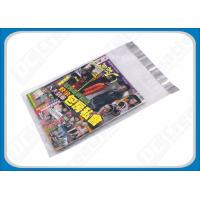 Custom Printed Poly Mailers Self-Seal Transparent Poly Envelopes For Brochures , Catalogue Manufactures