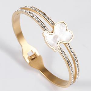 China Nickel / Lead Free Stainless Steel Jewellry Women Crystal Bangle Bracelet on sale