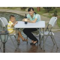 China square folding dining table/plastic outdoor banquet dining table on sale