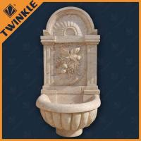 Water Wall Stone Fountains / Home Water Fountains With Yellow Travertine Manufactures
