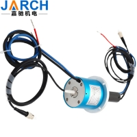 China Fiber Optic-electric Slip Ring / Rotary joint with 1 channel fiber optic+4 circuits 10A on sale