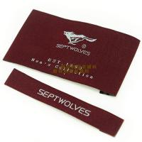 China Garments Woven Labels Small Quantities , High Density Woven Apparel Labels on sale