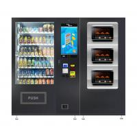 China Noodles Lunch Box Fast Food Snacks Drinks Automatic Vending Machine With Microwave Oven on sale