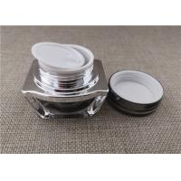 China Square Shape PP PE Acrylic Jars For Cosmetics 15 / 30G 62 * 60 * 55MM on sale