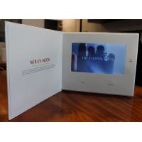 7 Inch LCD Flip Book Video With Touch Screen , Promotional Video Card Manufactures