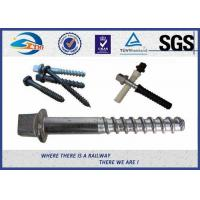 Stainless Steel / Brass Railroad Concrete Screw Spike Railway Fastening System Parts Manufactures