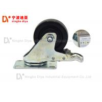 China Anti Static Plate Caster Wheels For Hand Cart / Lean Tube Shelves on sale