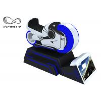 Blue And White Color 9D VR Simulator One Year Warranty / VR Racing Motorcycle Manufactures