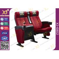 Ergonomic Steel Frame Powder Coated Cinema Theater Chairs With Cupholder