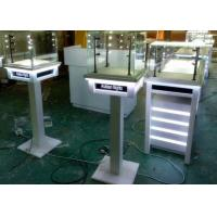 White Painting Color Lockable Glass Display Case For Jewelry Exhibition Manufactures