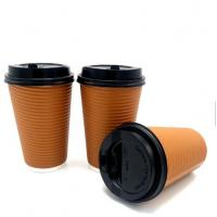 Top selling ripple wall disposable paper cup for hot drinking paper coffee to go cups with lidsTakeaway ripple coff Manufactures