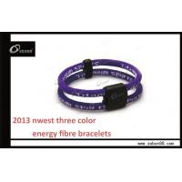 CE Colorful Adjustable Size High Elasticity Fabric Ion Power Balance Silicone Bracelet Manufactures