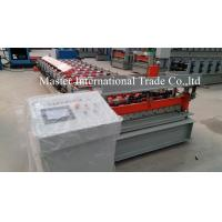 Colored IBR Roofing Sheet Roll Forming Machine With PLC Control 10 - 15m / min Manufactures