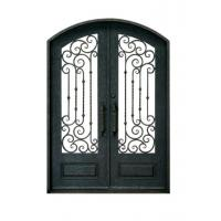Double Swing Ornamental Iron Parts Exterior Iron Front Doors European Style Manufactures