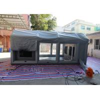 China PVC Tarpaulin Outdoor Inflatable Spray Booth Garage Tent Customized Size on sale