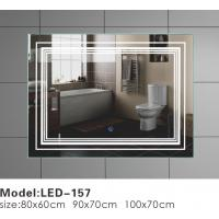 China Unique Touch LED Bathroom Mirror , Bath Wall Mounted Illuminated Mirror on sale