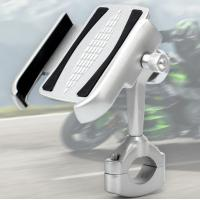 Aluminium Alloy 360 Degree Adjustment Motorcycle Cell Phone Holder For 4-6.5 Inch Cell Phone Manufactures