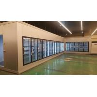 China Customized Walk In Freezer Glass Door For Vegetable / Beverage Display Refrigerated Room on sale