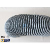 PVC Coated Fiberglass Fabric Flexible Air Ducts 200MM 10M Grey 260℃ HAVC System Manufactures