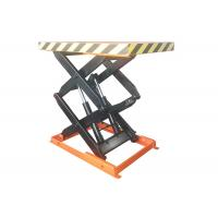 China 1000kg Stationary Scissor Lift Table With Max Lift Height 1000mm 1.5kw Power on sale