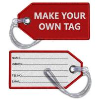 DIY Make Your Own Tag Embroidered Luggage Tag