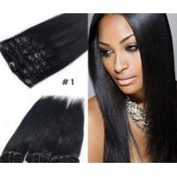 Popular Durable Indian Human Hair Extensions , Clean / Smooth Virgin Remy Straight Hair Manufactures
