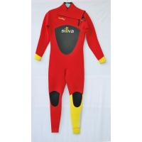China Red and Yellow  Women  Diving Suit  with Mesh on Chest and back wholesale