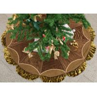 Buy cheap Customized Modern Christmas Tree Skirt , Polyester / Velvet Christmas Tree Skirts from wholesalers