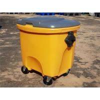 Corrosion Resistance Rotomolded Parts Single Wall Lid 150L Waste Bin Manufactures