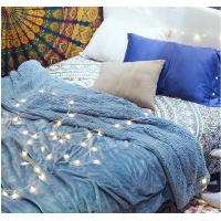 Double Ply Reversible Velvet Plush Sherpa Blanket for Bedding King Size / Queen Size Manufactures