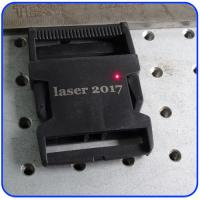 Quality 20W Plastic Buckles Fiber Laser Marking Machine with 110*110mm Working Area for sale