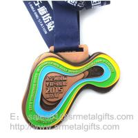 Buy cheap Enamel Sports Prize Medals With Colour Filled, Soft Enameled Metal prizing from wholesalers