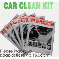 China Disposable Plastic Car Cover with Elastic Band Medium Size, Kit De Protection, Car Clean Kit, car protection disposable on sale