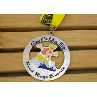 China CMYK Printing Brass Air Force Ribbon Medals , Custom Football Medals on sale