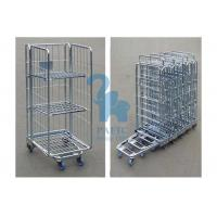 Steel Security Cage Storage Locker , Inventory Mobile Security Cage With Nylon Wheels Manufactures