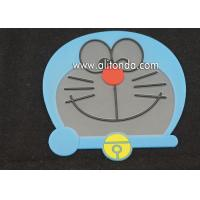 Wholesale cute animal design PVC drink coasters cup place mat drinking anti slip pad coaster for cafe Manufactures