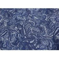 Blue Printed Apparel Fabric , Fashion Print Fabric Raw Materials Manufactures