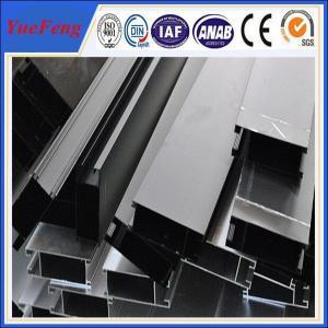 OEM aluminum tube extrusion profiles, anodized bronze(black) aluminium profiles Manufactures