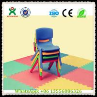 China Cheap Kids Plastic Stackable Chairs / Kindergarten Stackable Plastic Chairs QX-194B Manufactures
